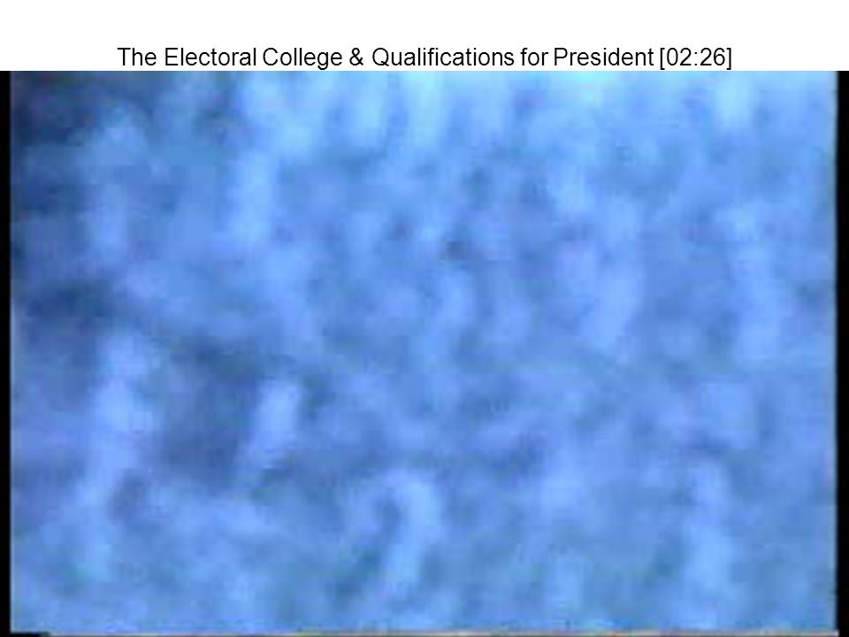 The Electoral College & Qualifications for President [02:26]